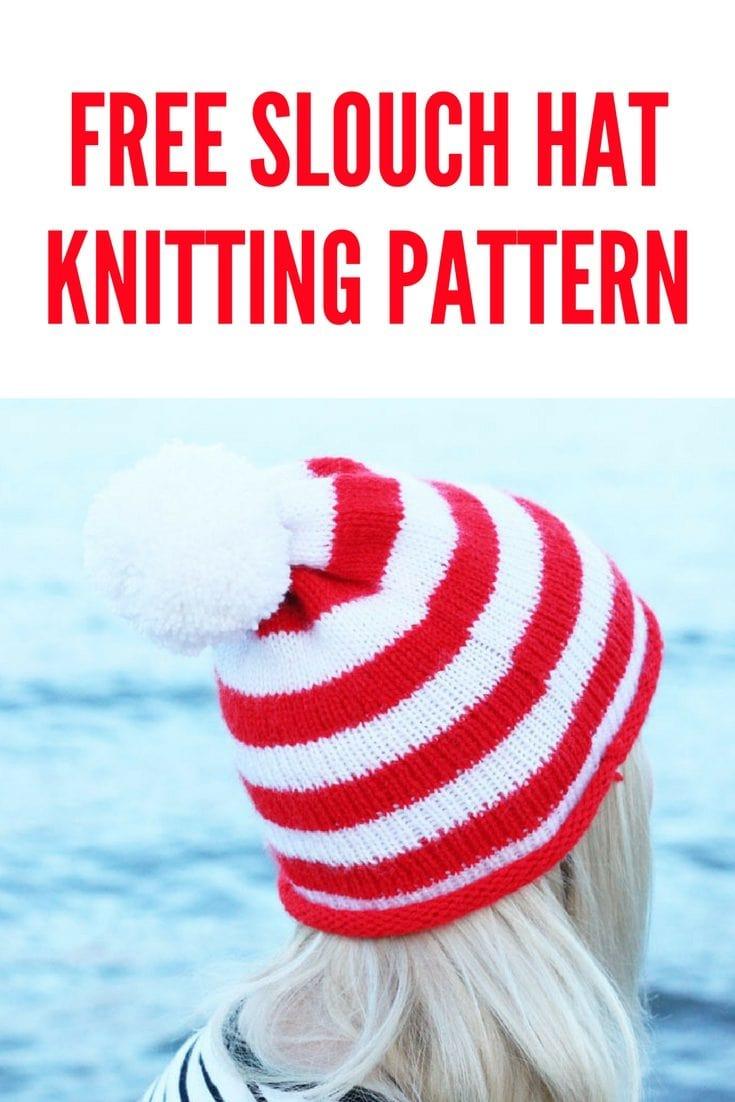 Striped Beanie Free Knitting Pattern