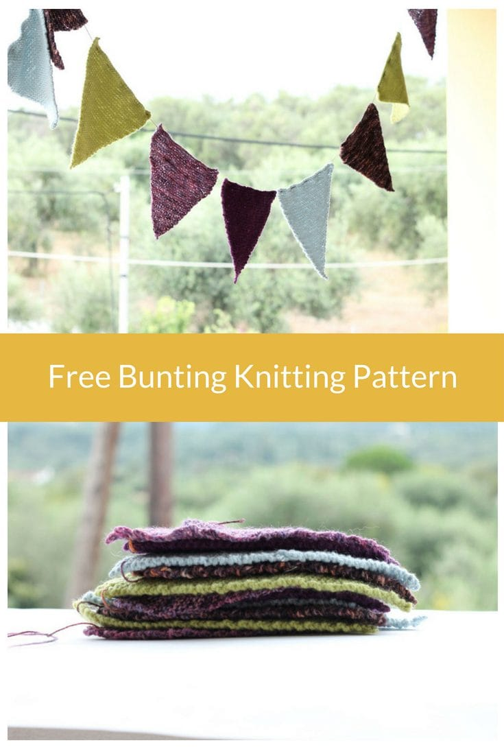 Bunting Free Knitting Pattern