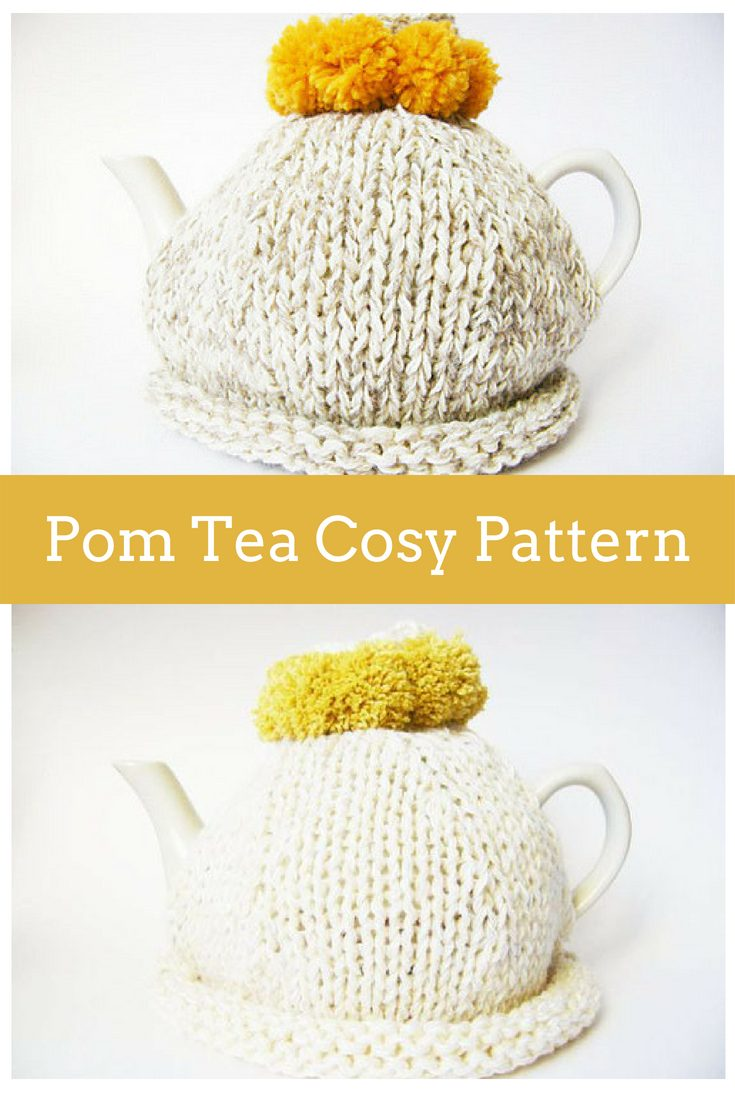 Simple Pom Tea Cosy Knitting Pattern