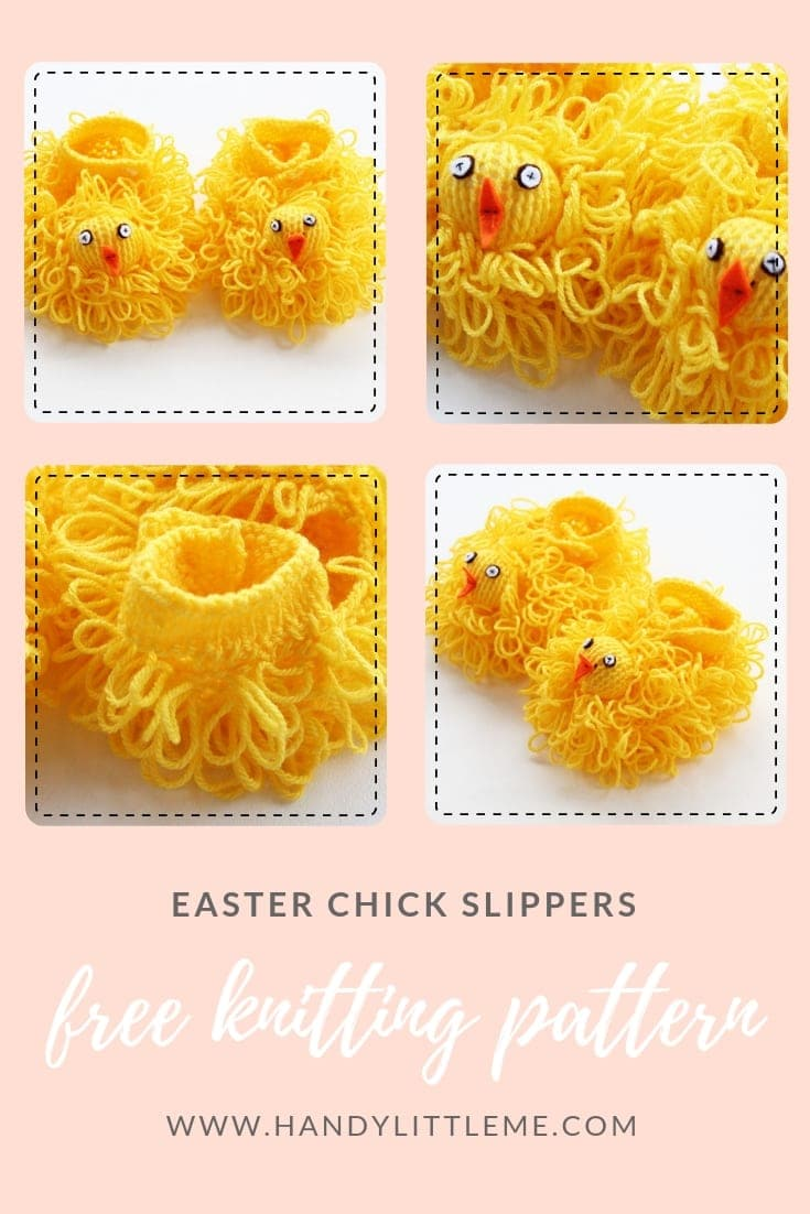 Easter chick slippers free knitting pattern