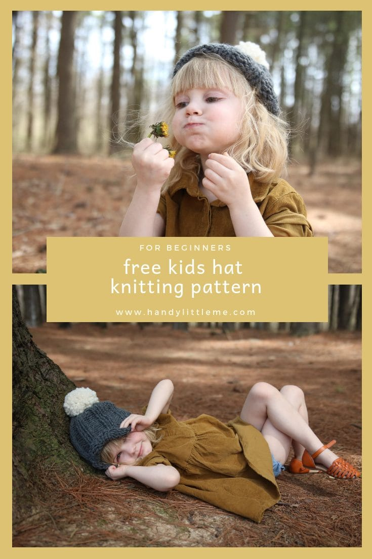 Easy kids Ribbed Hat Free Knitting Pattern