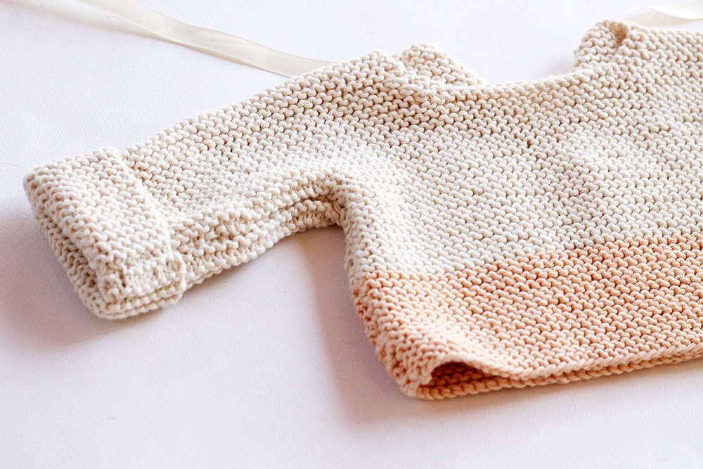 Easy baby sweater knitting pattern for beginners