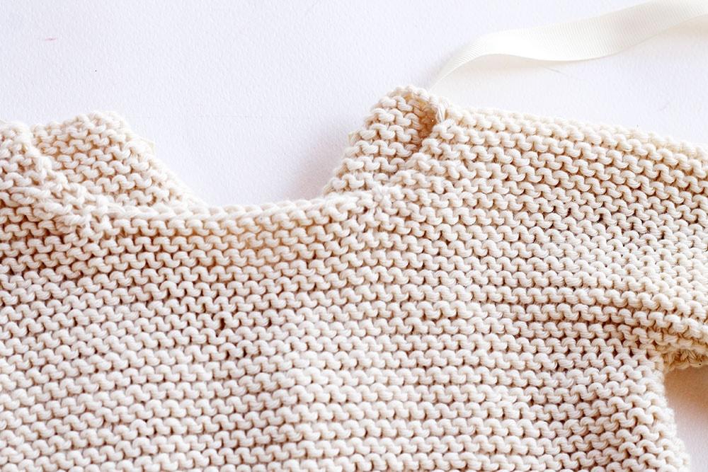Easy knit baby sweater pattern