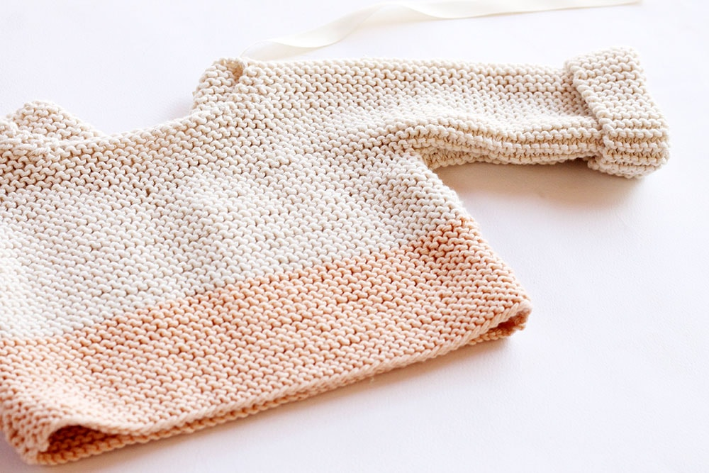 Spring baby sweater pattern