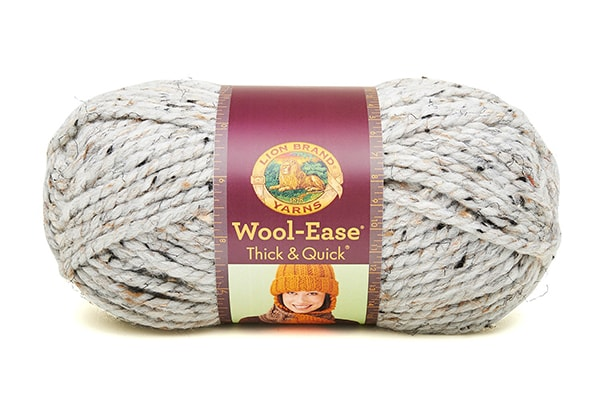 Lion Brand Wool Ease Thick and Quick - Grey Marble