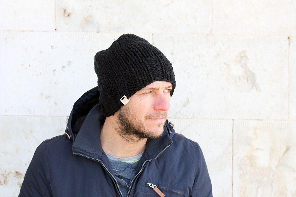 black beanie for men free knitting pattern