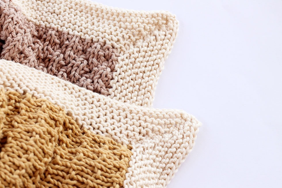 garter stitch blanket corners