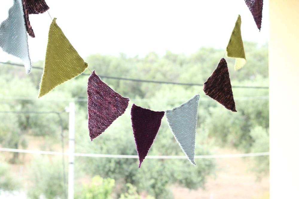 bunting flags hanging up