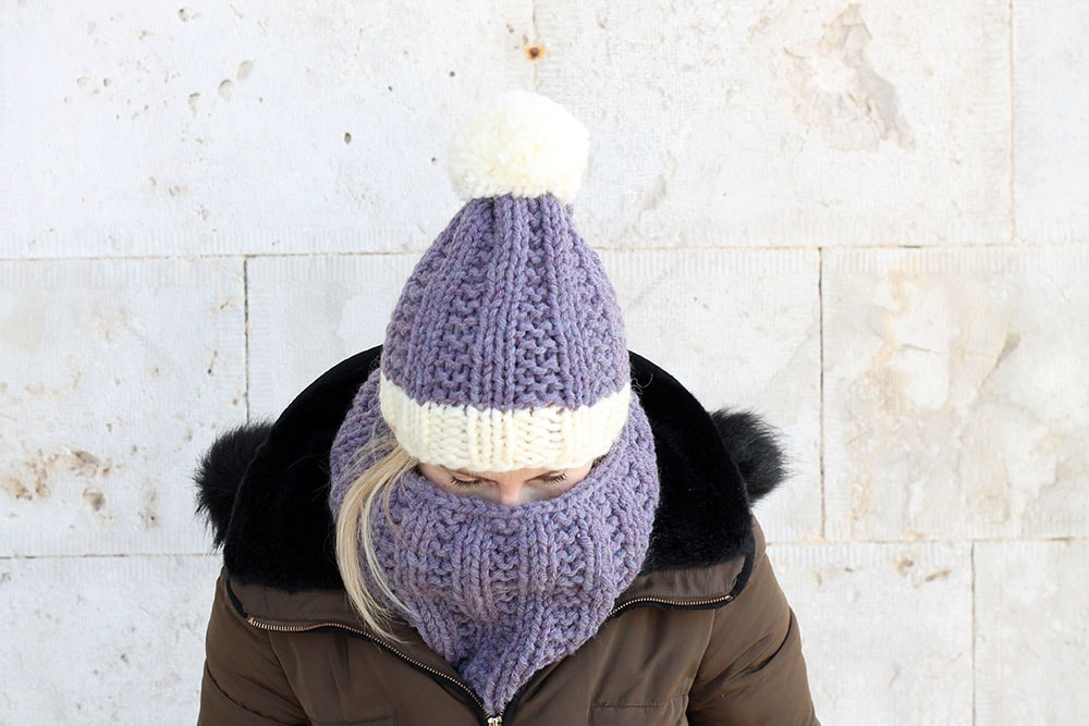 chunky hat and cowl knitting pattern
