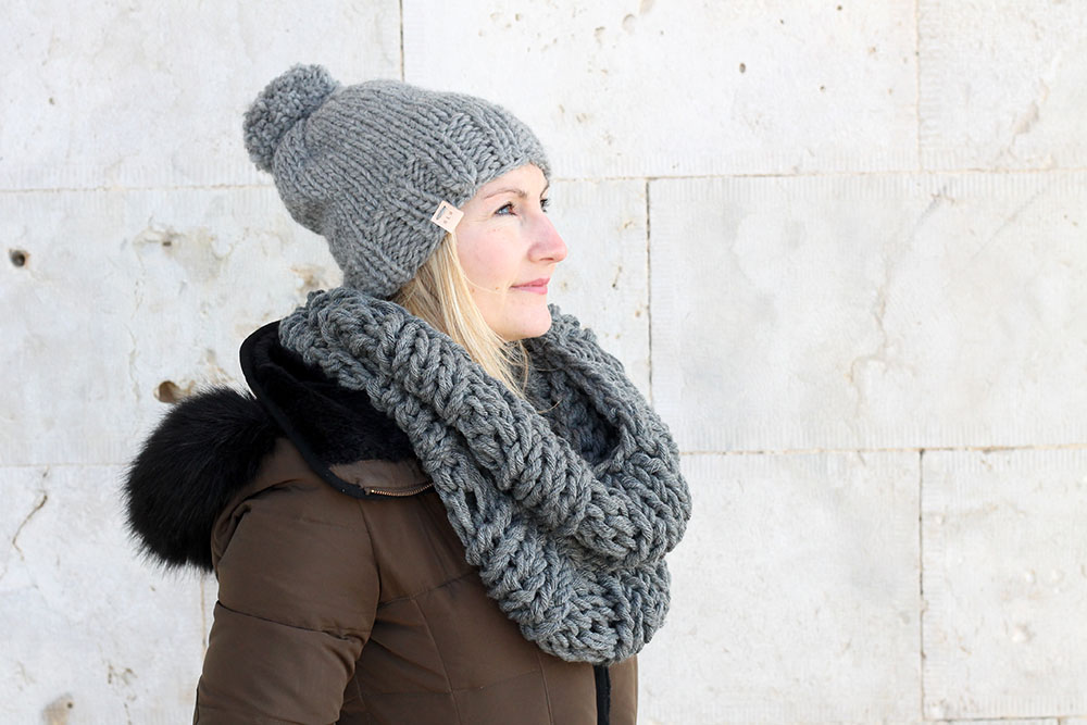 Infinity Scarf And Hat Pattern The Hera Free Knitting Patterns