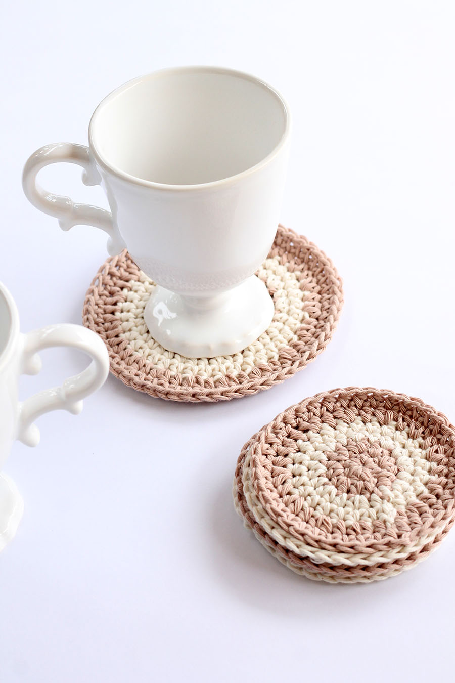 cotton crochet coasters
