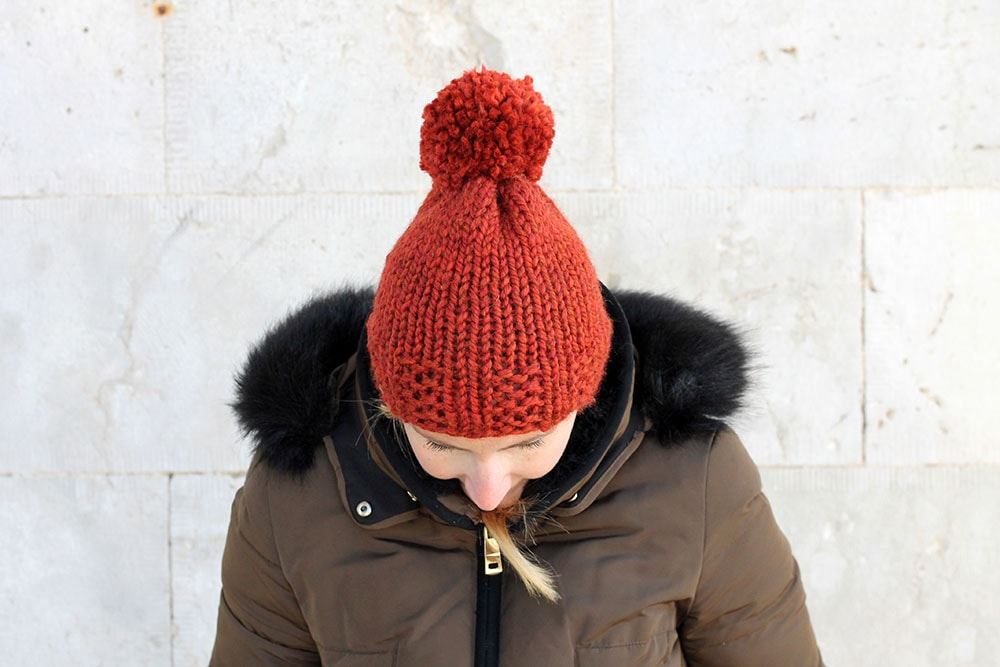 easy knit beanie hat