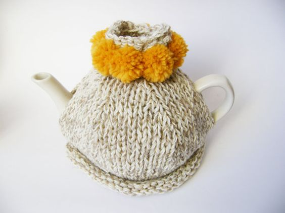 tea cosy with pom poms