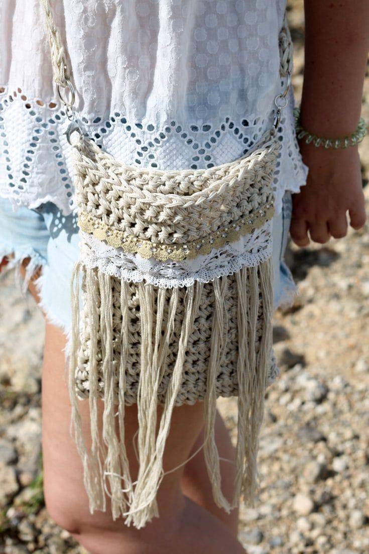 Crochet Fringe Crossbody Bag - Free Patterns
