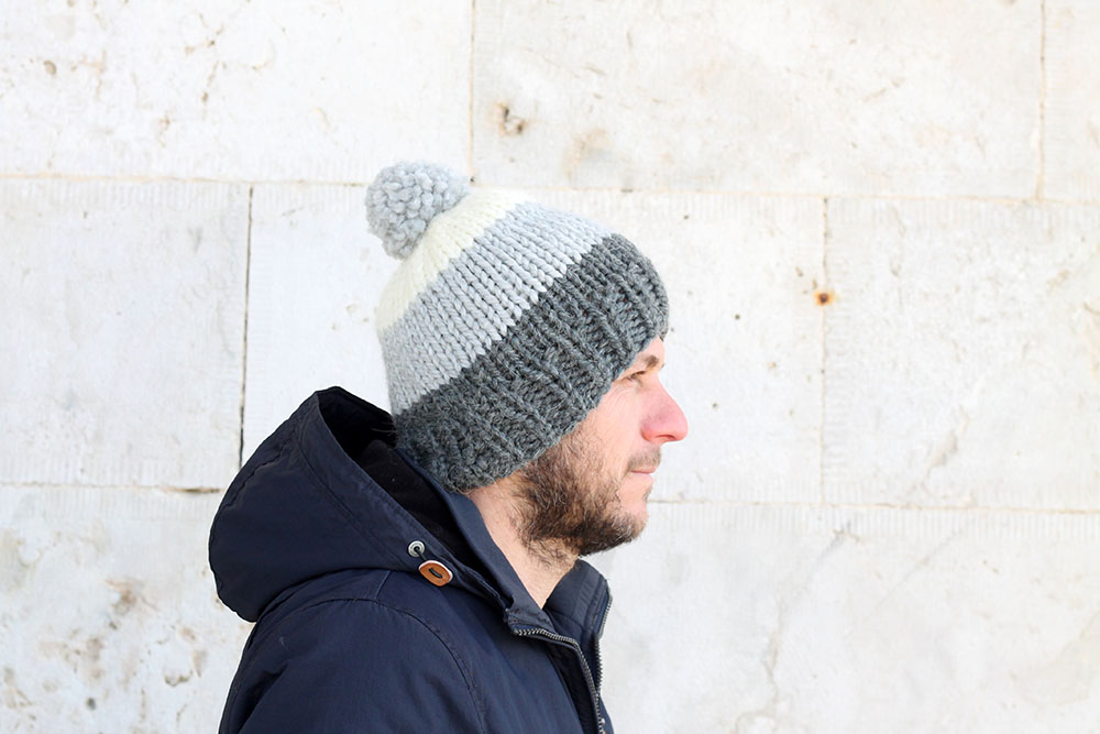 Men's Hat Pattern | The Hektor | Free Knitting Patterns | Handy