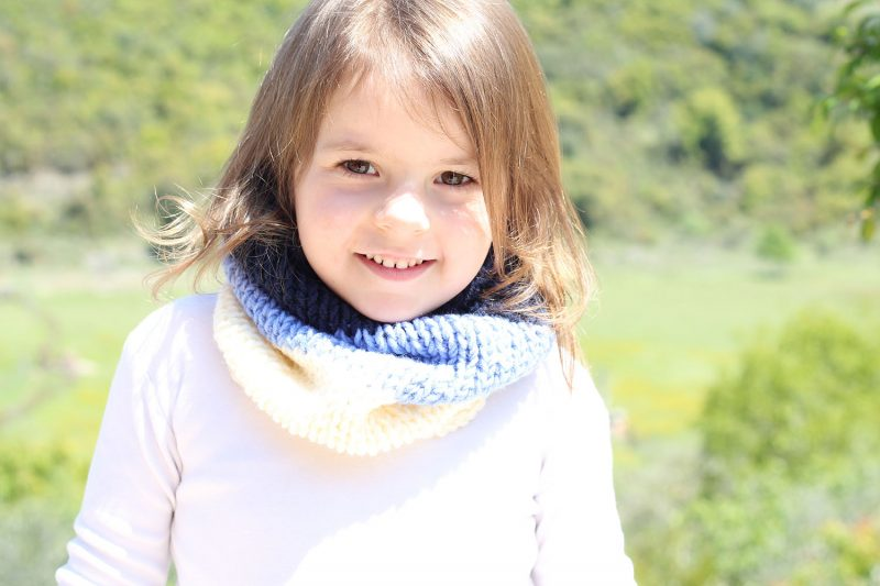Kids Cowl Knitting Pattern | Free Knitting Patterns | Handy Little Me