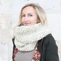 The Nikoletta Infinity Scarf Knitting Pattern PDF Download
