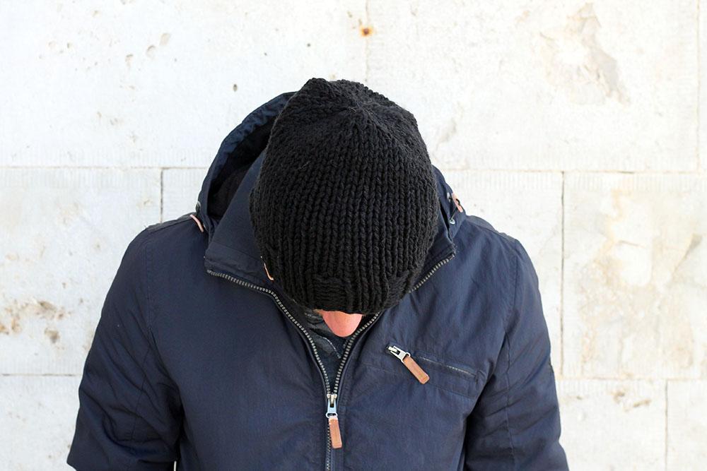 men's beanie knitting pattern