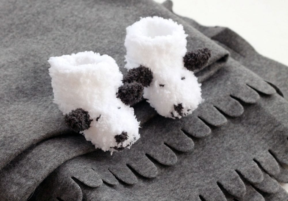 sheep baby booties pattern