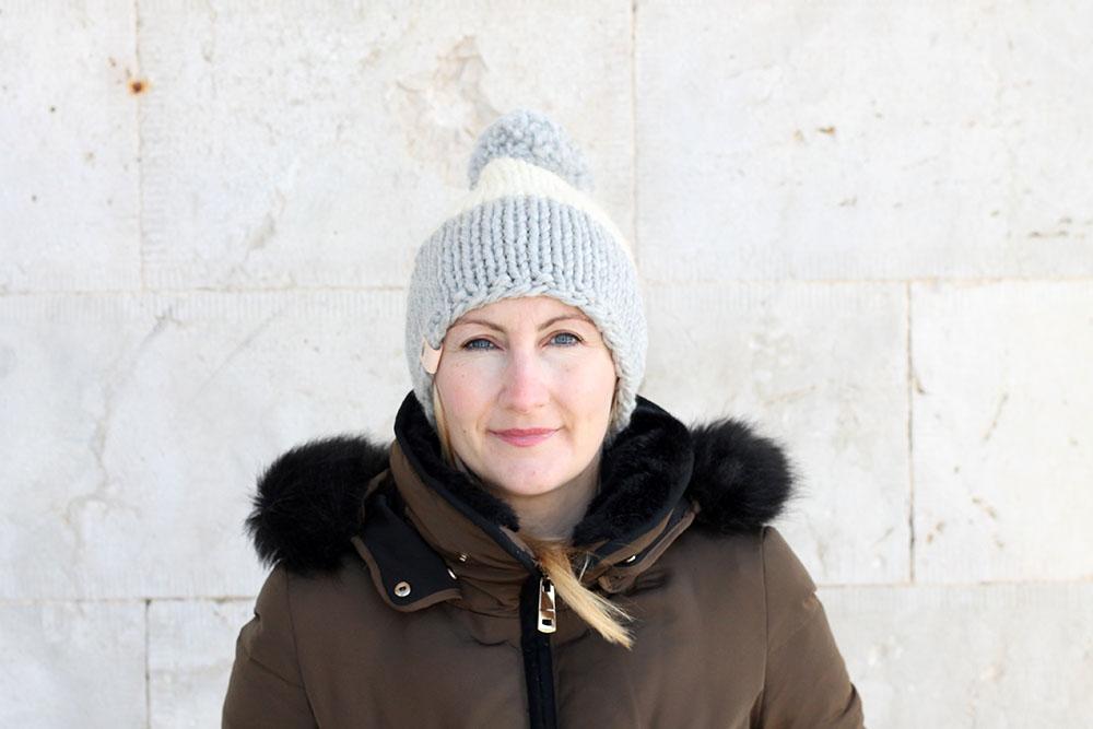 snow hat knitting pattern