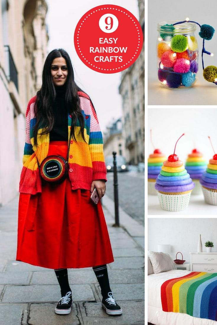 Easy rainbow crafts