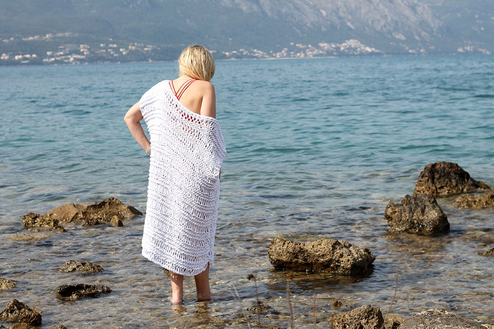 beach cover up knit pattern