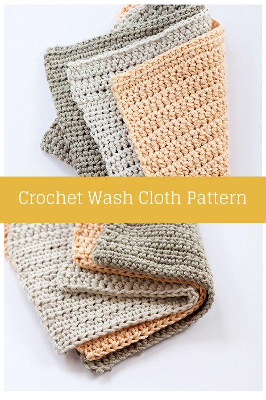 Crochet wash cloth pattern