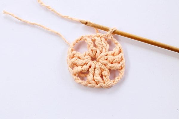 crochet granny square step three