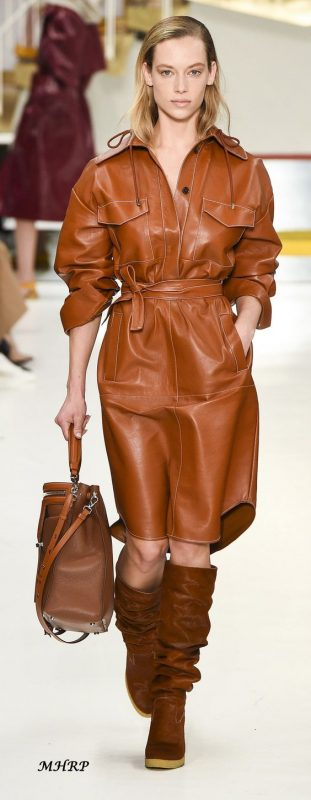 tan leather dress