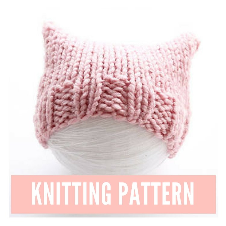 cat hat knitting pattern