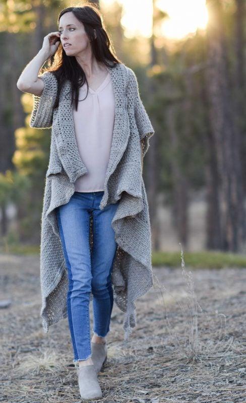 crochet duster waistcoat