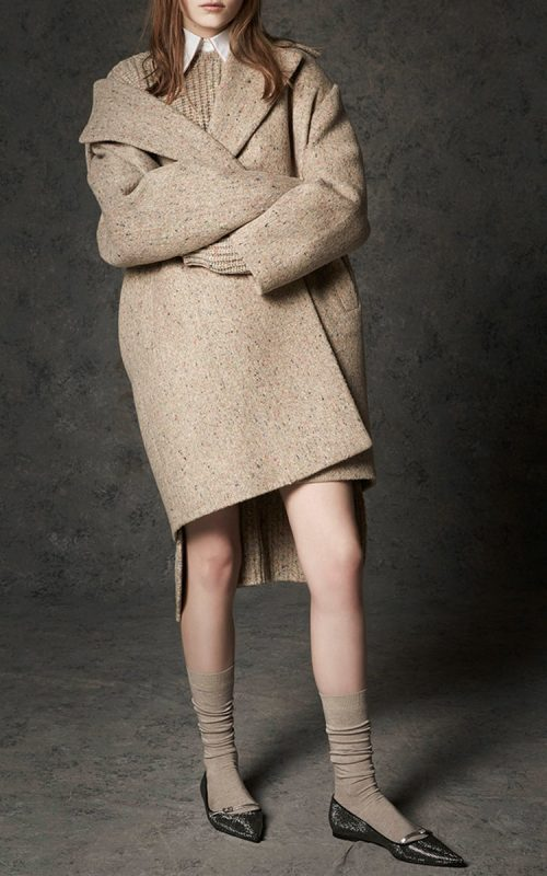 oversized tweed coat