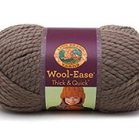 Lion  640-122D Wool-Ease Thick & Quick Yarn , 97 Meters, Taupe