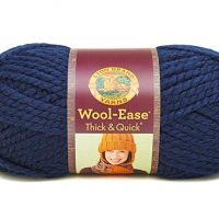 Lion  640-110 Wool-Ease Thick & Quick Yarn , 97 Meters, Navy