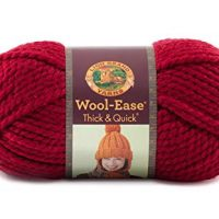Lion  640-138 Wool-Ease Thick & Quick Yarn , 97 Meters, Cranberry