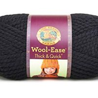 Lion  640-153 Wool-Ease Thick & Quick Yarn , 97 Meters, Black