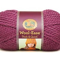 Lion  640-146J Wool-Ease Thick & Quick Yarn , 97 Meters, Fig