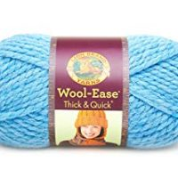 Lion  640-106C Wool-Ease Thick & Quick Yarn , 97 Meters, Sky Blue
