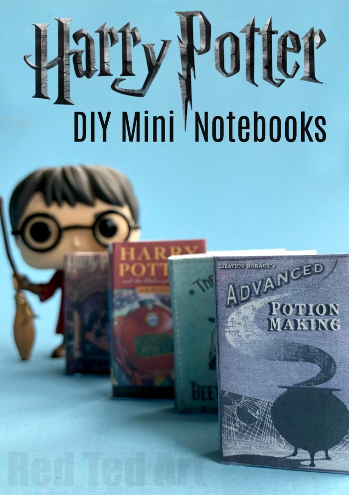 Harry Potter mini notebooks craft