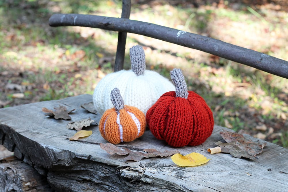 knitted pumpkin decorations