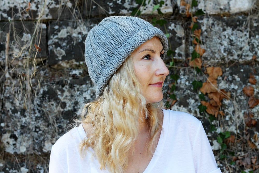 easy ribbed hat knitting pattern