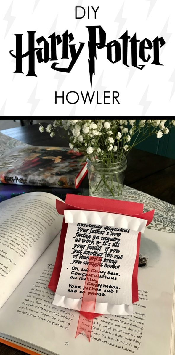 Harry Potter Howler letter craft
