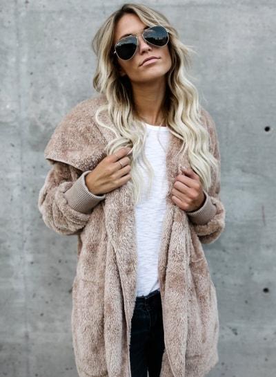 women-s-solid-long-sleeve-open-front-hooded-fleece-coat