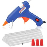 Hot Glue Gun, WEIO Upgrated 25W Mini Hot Melt Glue Gun Rapid Heating Tech with 25pcs Glue Sticks Glue Gun Kit Flexible Trigger for DIY Arts, Craft Projects, Sealing and Quick Repair, Free Finger Caps