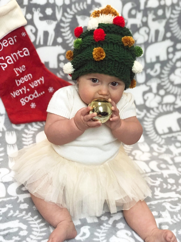 Baby Christmas tree hat