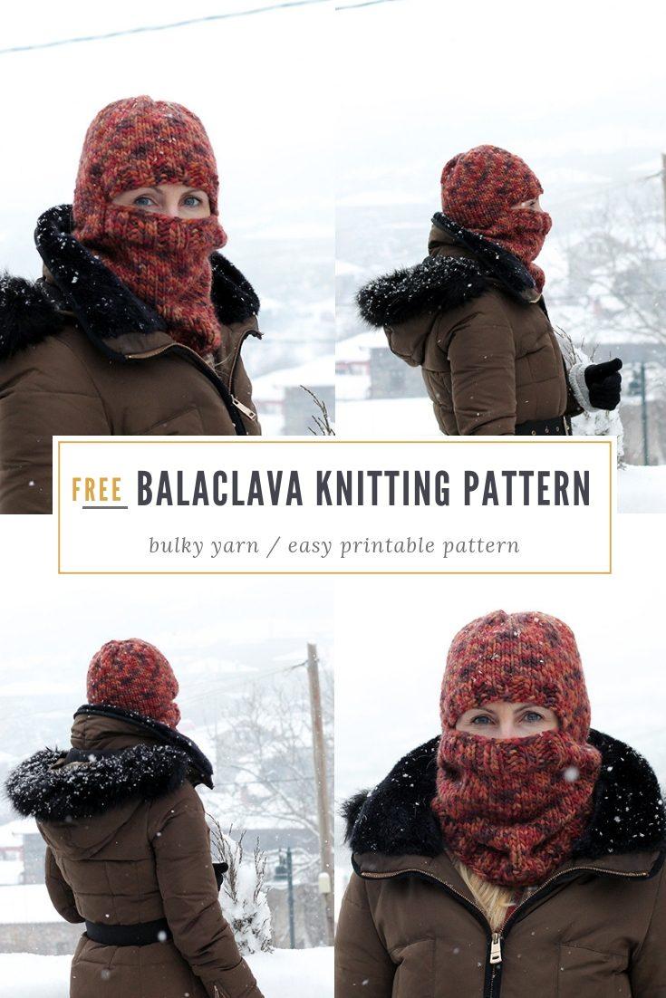 Bulky Knit Balaclava Pattern