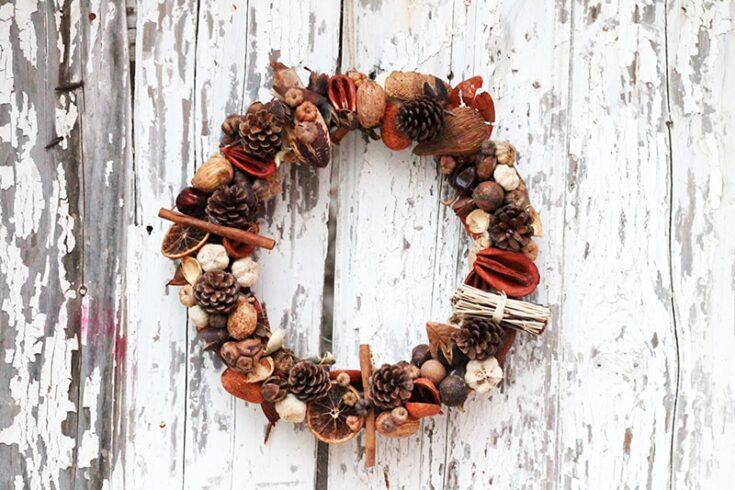 Fall Door Wreath DIY