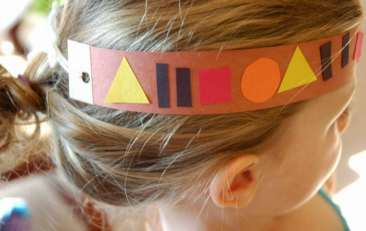 Native American headband made from paper