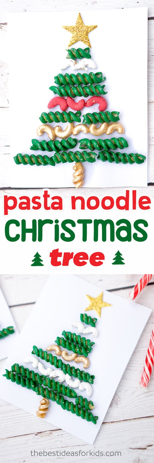 Pasta-Noodle-Christmas-Tree-Craft
