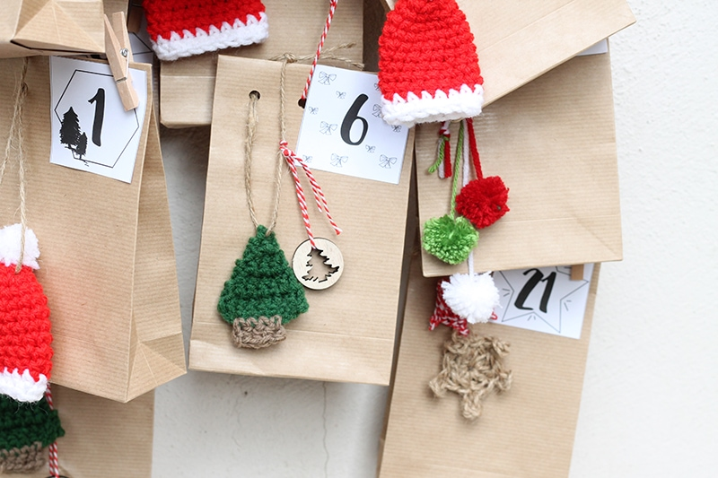 mini crochet Christmas tree decoration